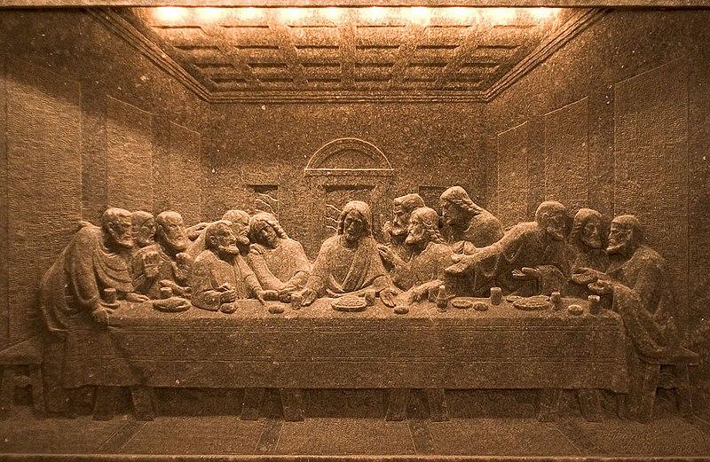 ヴィエリチカ岩塩坑 岩塩製の「最後の晩餐」