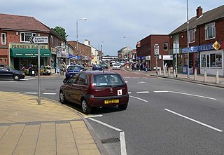 Wigston town in Leicestershire, England