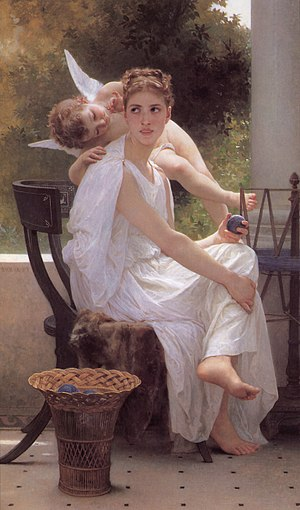 William-Adolphe Bouguereau (1825-1905) - Work Interrupted (1891).jpg