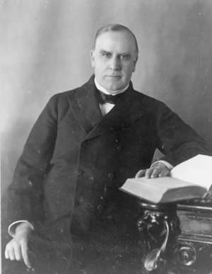President William McKinley, half-length portra...