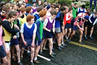 Sedbergh School - Start line of The Wilson Run