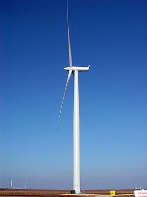 Sweetwater, Texas - Wind turbine near Sweetwater, Texas
