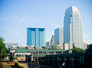 Skyline of Winston-Salem, North Carolina. The ...