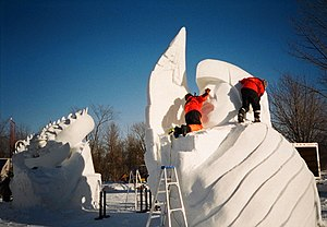 Snow sculpture - Winterlude snow sculpting