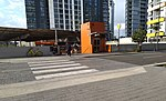 Woli Creek railway station entrance 20180421.jpg