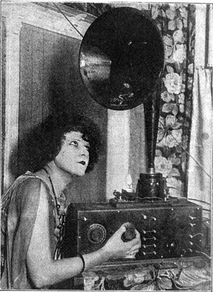 File:Woman tuning radio 1923.jpg