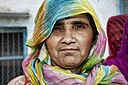 Woman with a colourful scarf, Rajasthan (6344114384).jpg