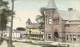 Bradford, Vermont - View of library in c. 1915