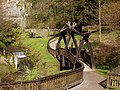 Wookey Hole, footbridge in the park. - geograph.org.uk - 1206634.jpg