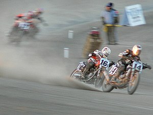 AMA Grand National Championship - Dirt track racing at Scioto Downs, Ohio
