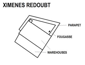 Ximenes Redoubt - Image: Ximenes Redoubt map