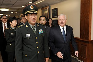 Xu Caihou - Xu Caihou met U.S. Defense Secretary Robert Gates in 2009.