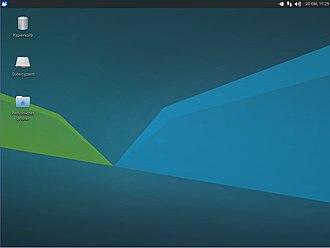 Xubuntu - Image: Xubuntu 17.10 Desktop