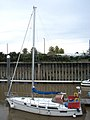 Yacht moored in the River Nene - geograph.org.uk - 1528552.jpg