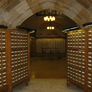 Library catalog - The card catalog at Yale University's Sterling Memorial Library