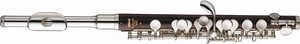 Piccolo - A piccolo with a grenadilla body and a silver headjoint.