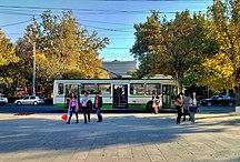 葉里溫-机动车与电车系统-Yerevan trolleybus view