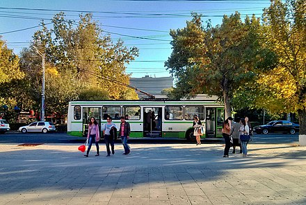A trolleybus in Yerevan