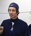 Yuki Kuniyosi, pitcher of the Yokohama BayStars, at Yokosuka Stadium.JPG