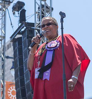 Yvette Flunder - Flunder singing at 2011 San Francisco Pride