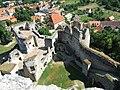 Zřícenina hradu Rabí, z věže.JPG