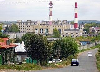 Vorsma Town in Nizhny Novgorod Oblast, Russia