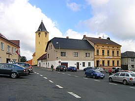 Zbraslavice, main square.jpg