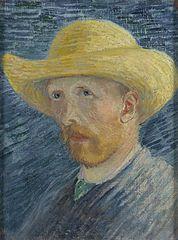 Self-Portrait with Straw Hat