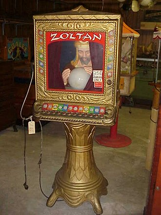 Fortune teller machine - Image: Zoltan Fortune Teller