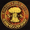 """CANADA FOOD BOARD S 0 S"" seal detail, Waste not want not WWI poster (cropped).jpg"