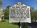 """Elk Ridge Landing"" roadside historic marker, Washington Boulevard and Old Washington Road (southwest corner), Baltimore, MD 21075 (32784923837).jpg"
