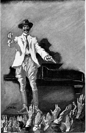 """My name's Stingaree!"" (Stingaree, 1908, frontispiece).png"