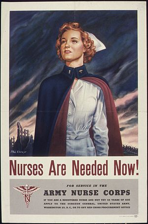 Military nurse - Recruitment poster, World War II
