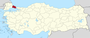İstanbul (3rd electoral district) - Image: İstanbul (III) in Turkey