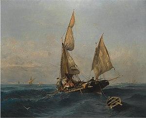 Κωνσταντίνος Βολανάκης - Ψαρόβαρκα σε Ταραγμένα Νερά.jpg