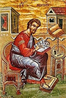 Luca evangelista, opera conservata al monastero di Grande Lavra