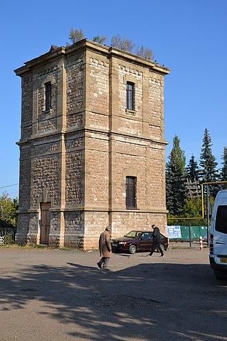 Davlekanovo - Water tower at the station square