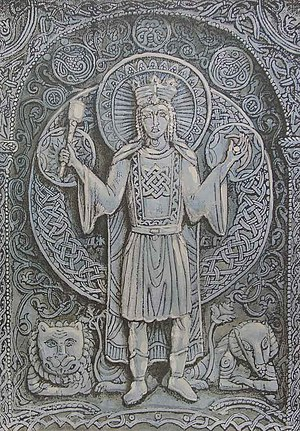 Deities of Slavic religion - Image: Дажбог.1998г.смеш.те х., бум.40,5х28