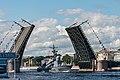 День ВМФ 2020 СПб. Ракетный катер Дмитровград 825 под мостом.jpg