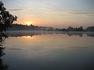 Bolshemurtinsky District - Mist on lake in Bolshemurtinsky District