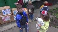 File:СВ-ДНР-606. Доставка гуманитарной помощи в детский сад №152 в Макеевке.webm