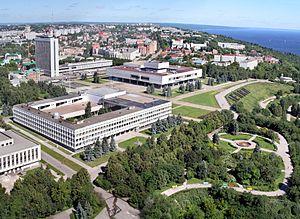 Вид центра Ульяновска с высоты птичьего полёта