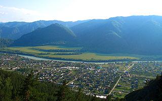 Chemal Selo in Altai Republic, Russia