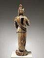 元至正十九年 彩繪木雕觀音菩薩像(柳木胎)-Bodhisattva Avalokiteshvara (Guanyin) MET DP223480.jpg