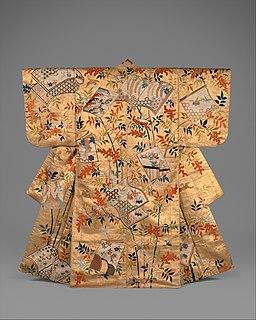 胴箔地南天冊子模様縫箔-Noh Costume (Nuihaku) with Books and Nandina Branches MET DT289471