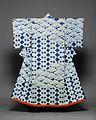 藍綸子地松鎖模様振袖-Kosode with Design of Pines and Interlocking Squares MET DT10413.jpg