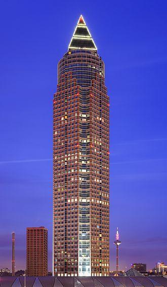 Messeturm - Image: 01 01 2014 Messeturm trade fair tower Frankfurt Germany 05