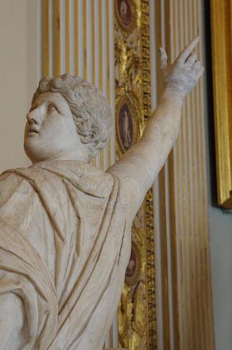 Niobids - Niobids rises on a rock Galleria degli Uffizi