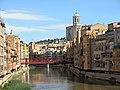 041 L'Onyar, el pont de les Peixateries Velles i la Catedral (Girona).JPG
