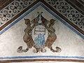066 Monestir de Sant Benet de Bages, cripta de l'església, escut de Montserrat.jpg